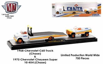 "Chase 1:64 1968 Chevrolet C-60 Truck w/1973 Chevrolet Super 10 4x4 ""Fanta"""