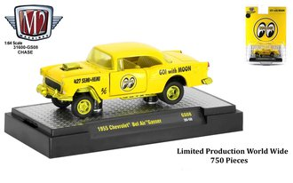 """Chase 1:64 1955 Chevrolet Bel Air Gasser """"Mooneyes"""" *** Only 750 Made ***"""