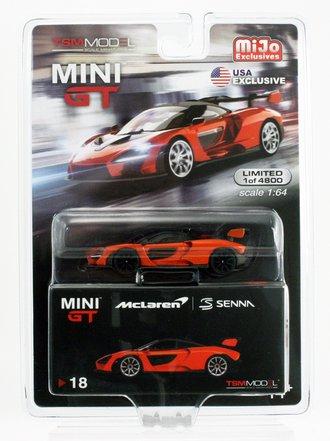Chase 1:64 McLaren Senna (Orange w/Black Rims)