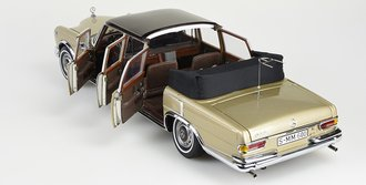 1:18 Mercedes-Benz 600 Pullman (Beige/Brown Two-Tone Landaulet), Fixed Softtop