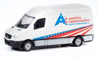 "1990 Sprinter Van ""Air America Air Conditioning"" (Red, White/Blue)"