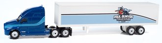 "2000's Semi Tractor Trailer Set ""Paul Bunyan Trucking"" (Dark Blue/Light Blue)"