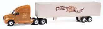 "2000's Semi Tractor Trailer Set ""Tasket Bakery"" (Maroon/Tan)"