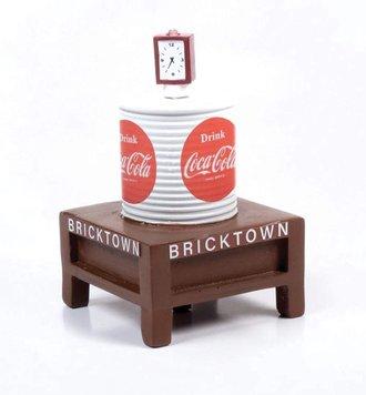 """1940-1960's Era Water Tower w/Light Building """"Coca-Cola"""" (White w/Coke Graphics)"""