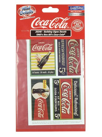 "1940's/1950's Building Mural Decals ""Coca-Cola"""