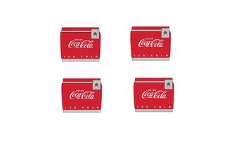 1950's/1960's Coke Chest Cooler/Vending Machine (Coke Red)