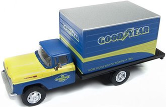 """1:87 1960 Ford Box Truck """"Goodyear Tires"""" (Yellow/Blue)"""