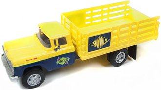 "1:87 1960 Ford Stakebed Truck ""Sunoco"" (Yellow/Dark Blue)"