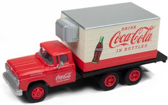 "1:87 1960 Ford Box Refrigerated Truck ""Coca-Cola"" (Red/White)"
