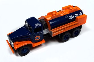 "1:87 1940's GMC 6x6 Tanker ""Gulf Oil"" (Blue/Orange)"