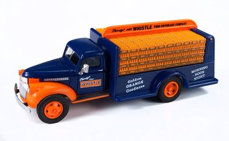 "1:87 1941-46 Chevy Bottle Truck ""Whistle"" (Sheridan Blue/Orange)"