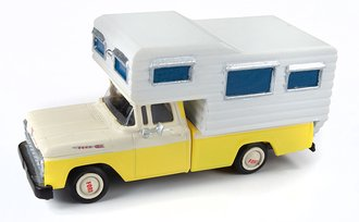 1960 Ford Camper Truck (Goldenrod Yellow/White)