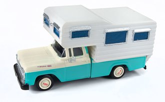 1:87 1960 Ford Camper Truck (Indian Turquoise/White)