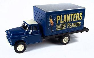 "1:87 1955 Chevy Box Truck ""Planters Peanuts"" (Blue)"