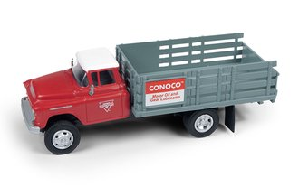 "1955 Chevy Stakebed Truck ""Conoco"" (Red/Gray)"