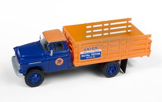 "1955 Chevy Stakebed Truck ""Union76"" (Blue/Orange)"