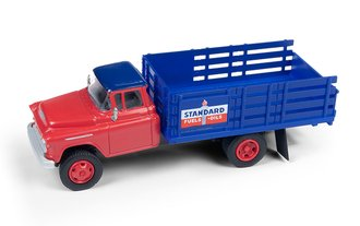 "1955 Chevy Stakebed Truck ""Standard Oil"" (Red/Blue)"