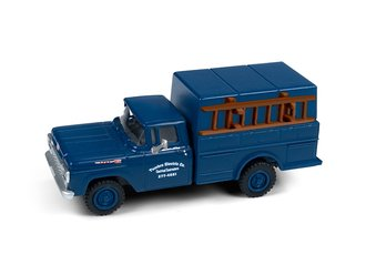 """1960 Ford F-250 Utility Truck """"Electric Contractor"""" (Dark Blue)"""