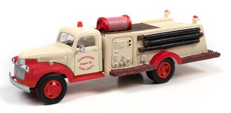 "1941-46 Chevy Fire Truck ""Township Fire Department"" (White/Red)"