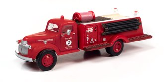 "1941-46 Chevy Fire Truck ""County Fire Department"" (Red)"