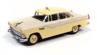 1955 Ford 4-Door Sedan Taxi (Snowshoe White/Goldenglow Yellow)