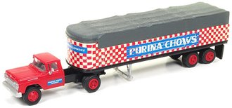 """1:87 1960 Ford Tractor w/Covered Wagon Trailer """"Purina Chows"""""""