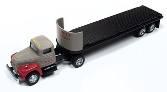 "International R-190 Tractor w/32' Flatbed Trailer Set ""Breir & Smith Building Materials"" (Gray)"