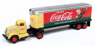 "White WC22 Tractor Trailer Set ""Coca-Cola"" (Yellow/Red)"