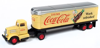 "White WC22 Tractor Trailer Set ""Coca-Cola"" (Yellow)"