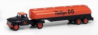 "1957 Chevy w/Tanker Trailer ""Phillips 66"" (Orange/Black)"