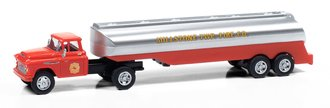 """1957 Chevy w/Tanker Trailer """"Millstone Township Fire Dept"""" (Red/Silver)"""