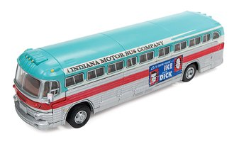 "1:87 GMC PD4103 Intercity Bus ""Eisenhower Campaign"" (Red/Aqua/Silver)"