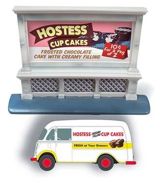 "1950's IH Metro Van & 1950's Billboard ""Hostess"" (White)"