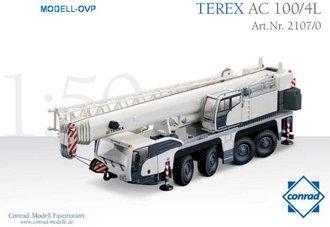 Terex AC100/4L Hydraulic Truck Crane (White)