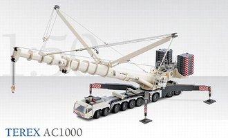 Terex AC1000 Truck Crane (White)