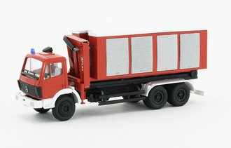 """1:50 Mercedes Roll Off Closed Container """"Feuerwehr"""""""