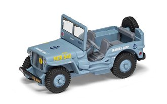 """Willys Jeep """"USN SeaBees Corp"""" (Light Blue)"""