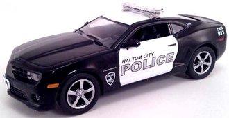 """1:43 Chevy Camaro Police """"Haltom City, TX"""" (Black/White)"""