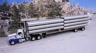 "Kenworth W900L w/Transcraft Stepdeck & Corrugated Pipe Load ""Pacific Corrugated Pipe"""
