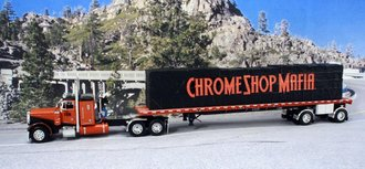 "Peterbilt 379 w/Flatbed Trailer ""Chrome Shop Mafia"""