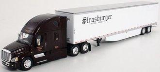 """1:64 Freightliner Cascadia Evolution w/53' Dry Goods Skirted Trailer """"Strasburger Trucking"""""""