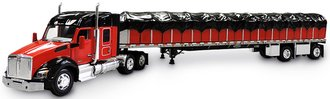 1:64 Kenworth T880 w/Covered Wagon (Red/Black)