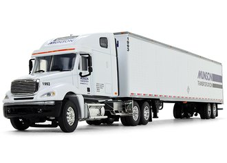 "1:64 Freightliner Columbia High-Roof Sleeper w/53' Utility Trailer ""Munson Transportation"""