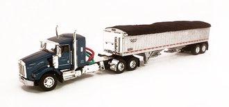 """1:64 Kenworth T800 38"""" Sleeper w/Wilson Pacesetter Grain Trailer """"Frederick Harvesting"""""""