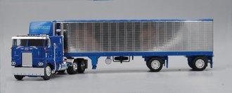 "1:64 Peterbilt 352 COE w/40' Split-Axle Reefer Trailer ""Western Distributing"" (Blue/Chrome)"