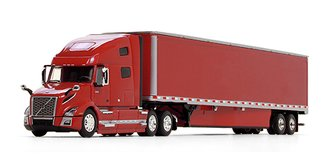 Volvo VNL 760 High-Roof Sleeper w/53' Trailer & Skirts (Viper Red Cab & Trailer)