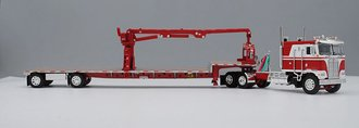 "Kenworth K-100 COE 110"" w/Transcraft S-A Stepdeck w/Self-Loading Arm (Red/White)"