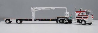 "Kenworth K-100 COE 110"" w/Transcraft S-A Stepdeck w/Self-Loading Arm (White/Red/Black)"