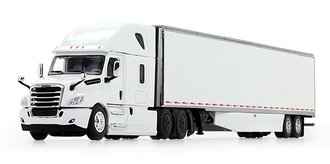 Freightliner 2018 Cascadia High-Roof Sleeper w/53' Utility Skirted Trailer (White)