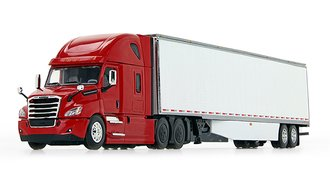 Freightliner 2018 Cascadia High-Roof Sleeper w/53' Utility Skirted Trailer (Red/White)